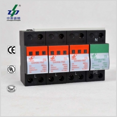AC 220V 120kA 4P N-PE CE Certified Three Phase Surge Protection Device