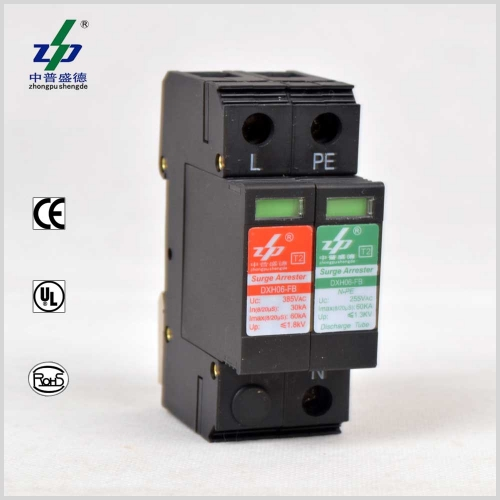 60kA AC 220V 2P N-PE Single Phase Surge Protection Device
