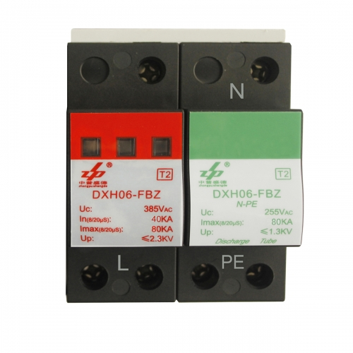 AC 380V 80kA 2P N-PE CE Certified Single Phase Surge Protection Device