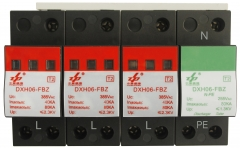AC 80kA 4P N-PE CE Certified Three Phase Surge Protection Device